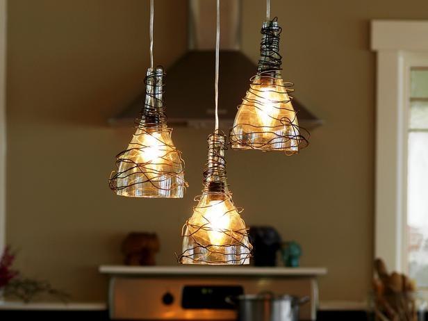 25 diy chandelier ideas make it and love it wine bottle pendant light chandelier by diy network bottle pendants aloadofball Gallery