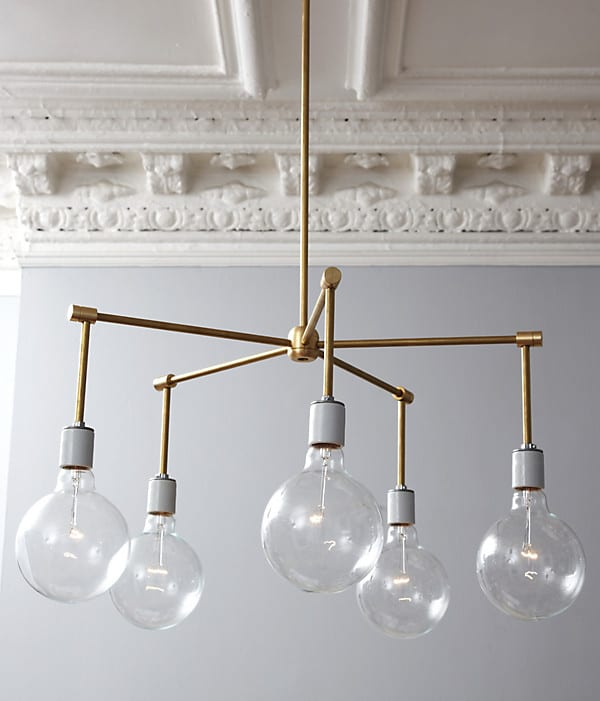 25 diy chandelier ideas make it and love it brass balls aloadofball Choice Image