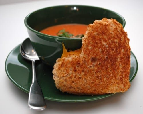 heart grilled cheese