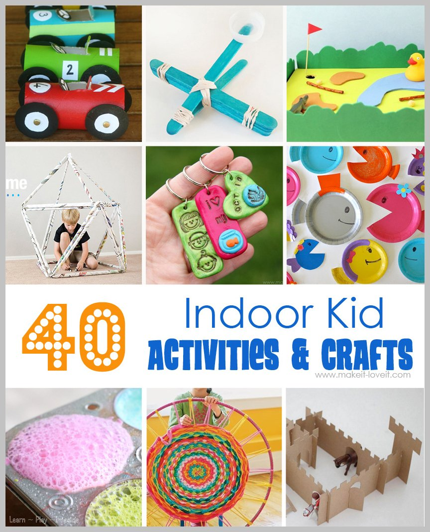 Pibterest Cast Ideas For Kids: 40 Indoor Kid Activities & Crafts