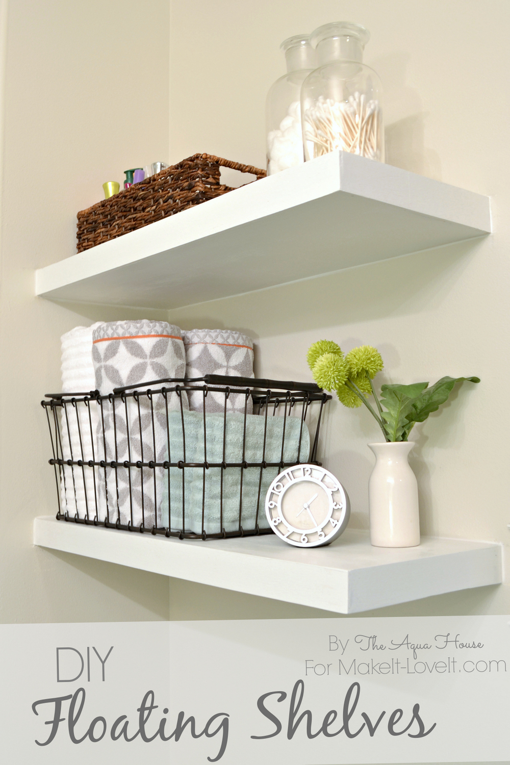 bathroom wall shelving ideas diy floating shelves a great storage solution 16195