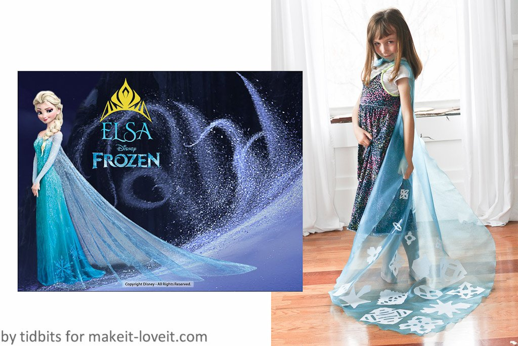 No Sewing Elsa Cape Costume by Ashley Johnston