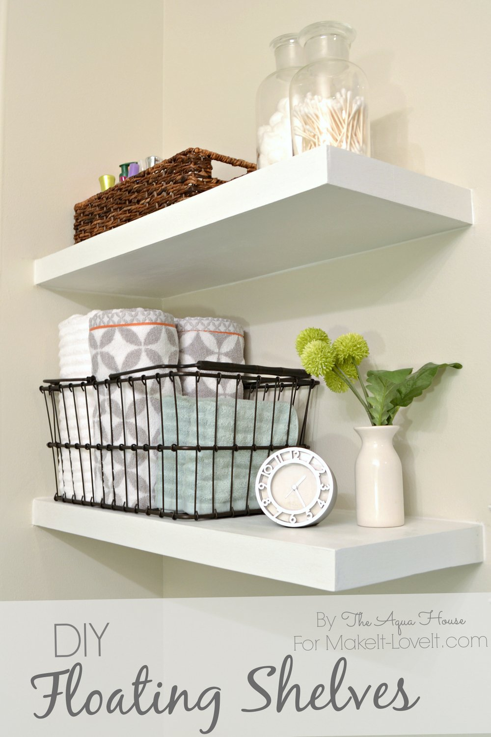 Diy floating shelves……a great storage solution!