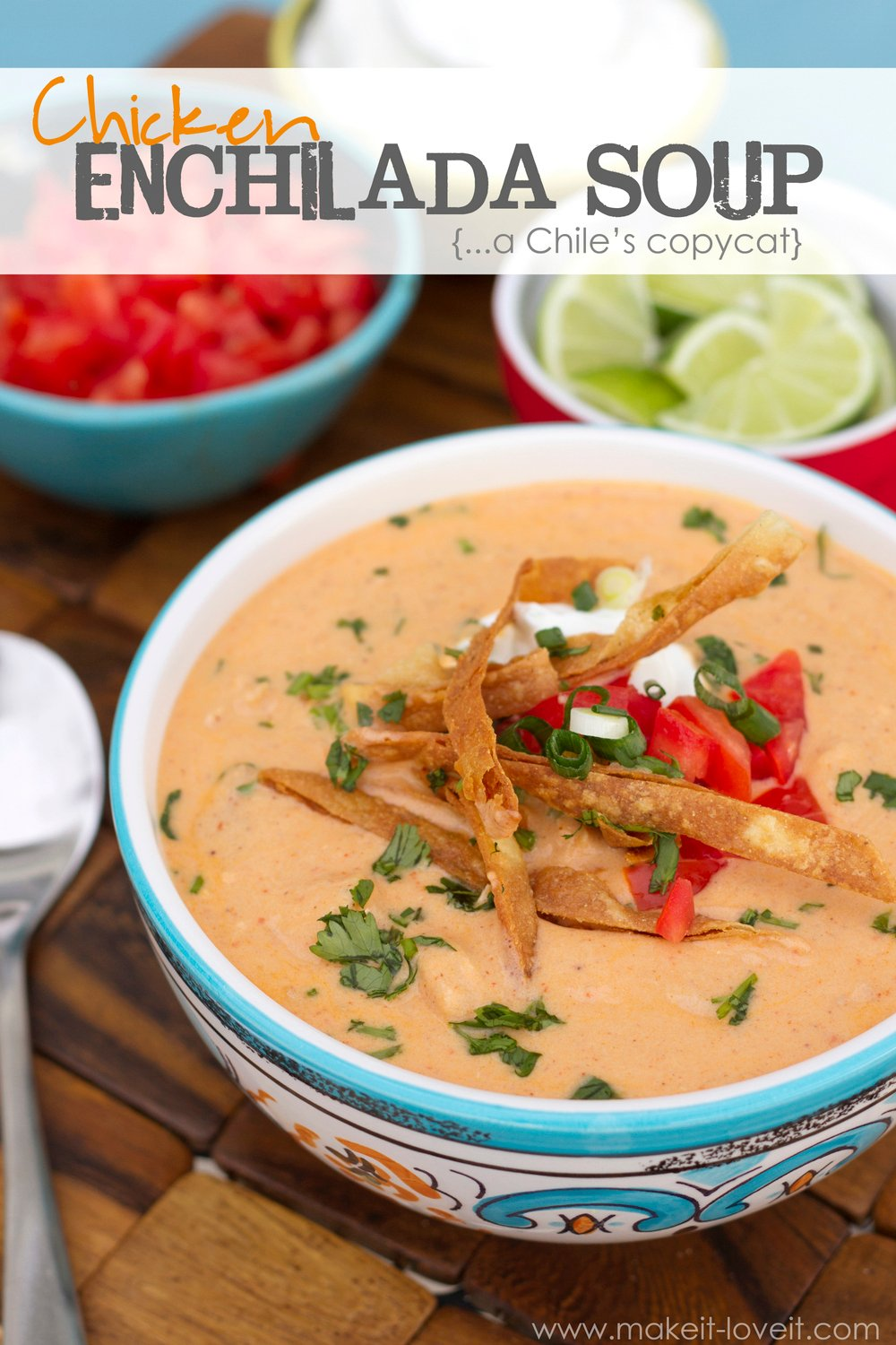 Recipe: chicken enchilada soup (a chili's copycat)