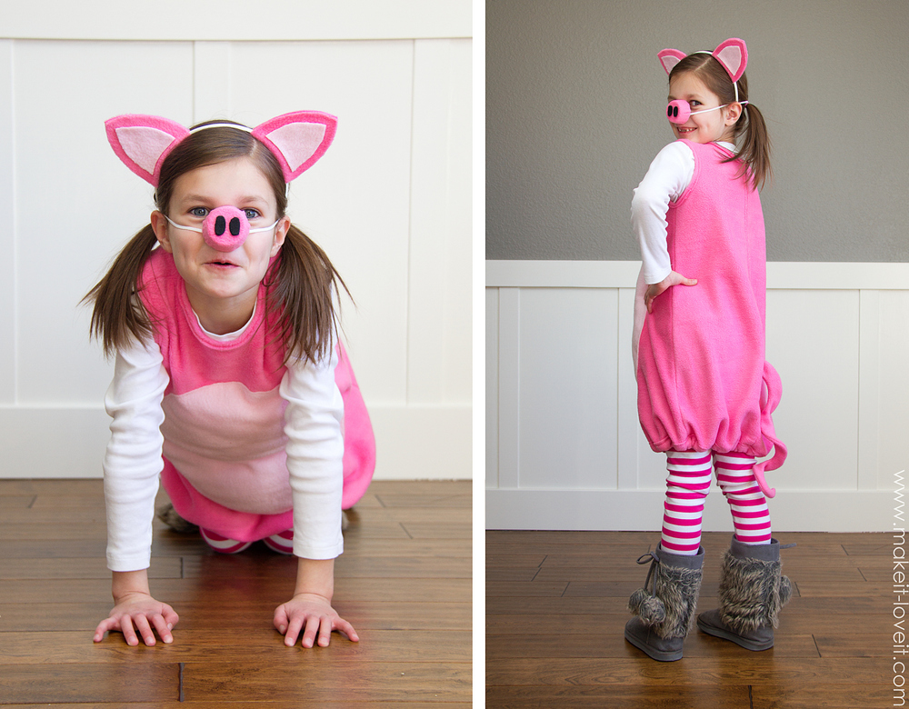 Little pig costume with ears and snout make it and love it little pig costume with ears and snout make it and love solutioingenieria Gallery