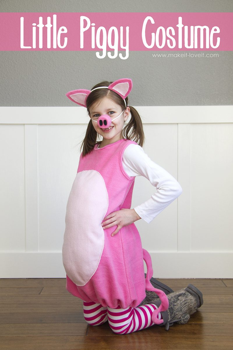 Little pig costume (with ears and snout)