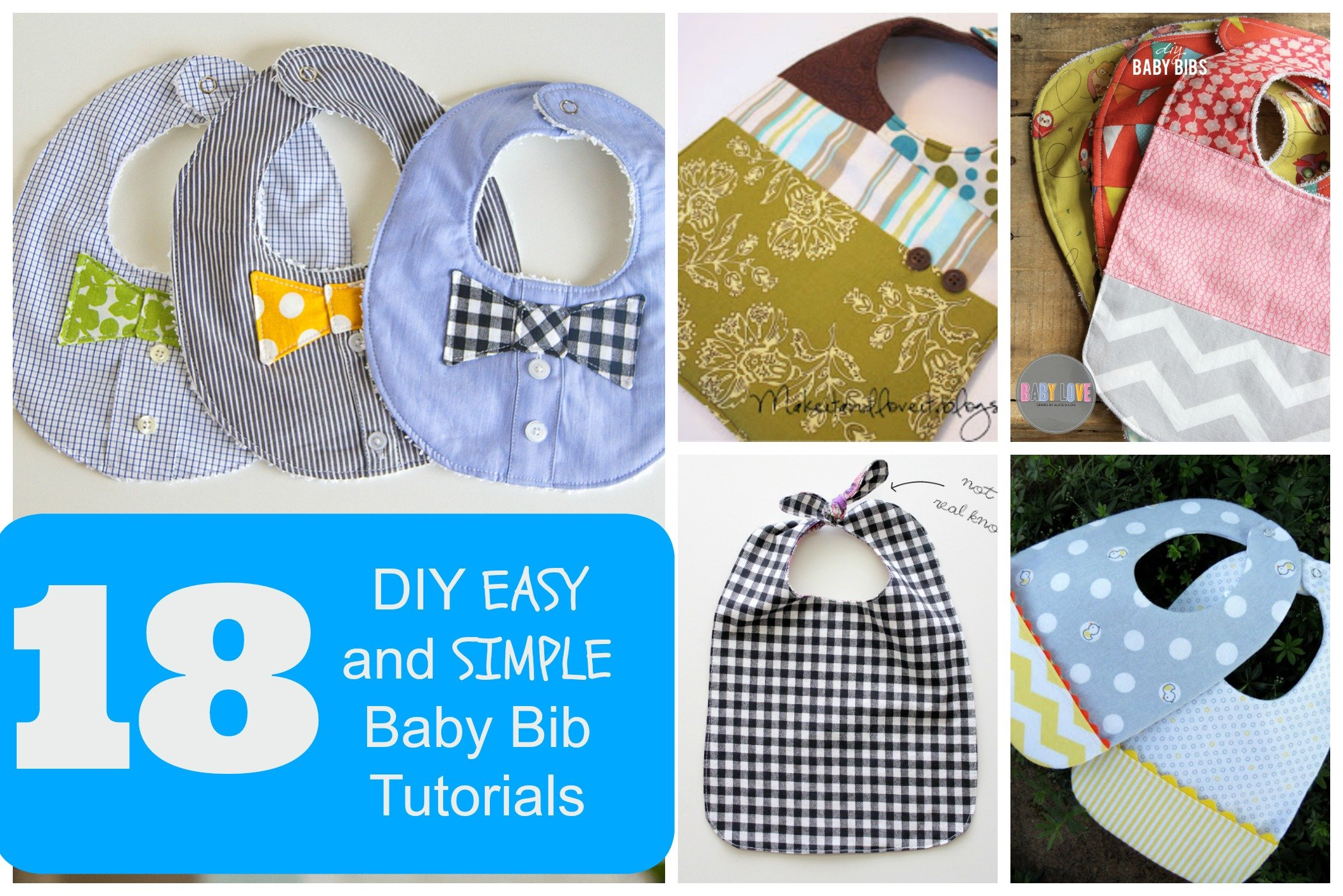 18 Diy Easy And Simple Baby Bib Tutorials Make It And Love It