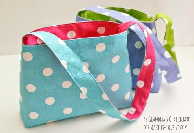 Easy reversible bag tutorial - makeit-loveit.com