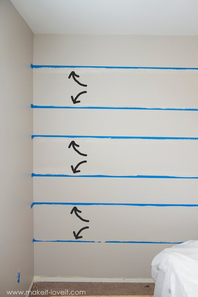 How To Paint Super Straight Horizontal Striped Lines On A Wall