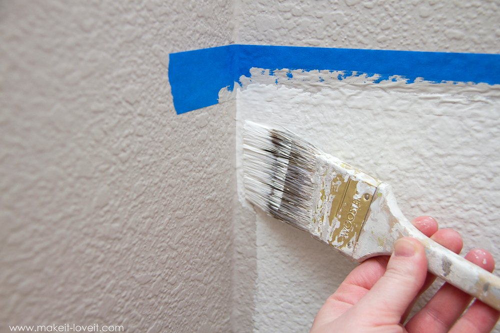 How to Paint {Super Straight} Horizontal Lines --- Make It and Love It