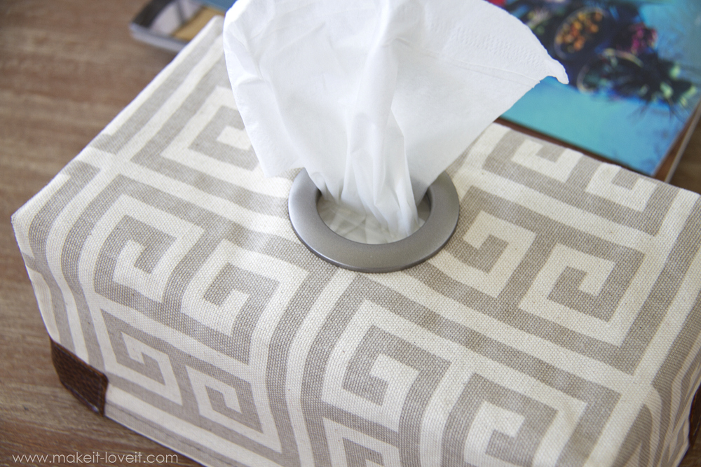 Fabric Tissue Box Cover With Grommet Opening Make It