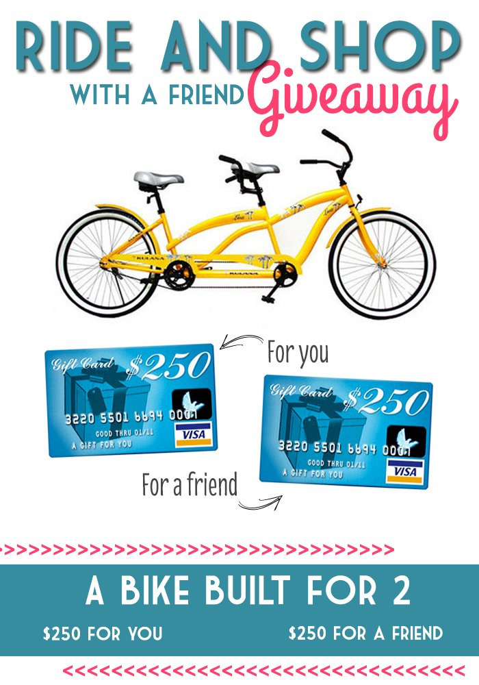 A New Tandem Bike and $500 Visa Card GIVEAWAY --- Make It and Love It