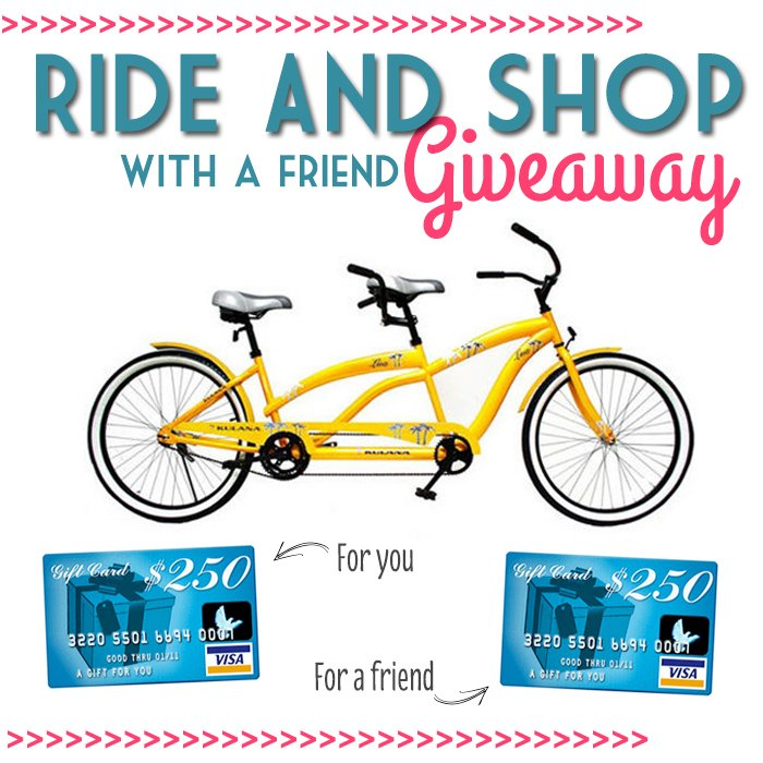A new tandem bike + $500 visa card giveaway (update: winners selected!)