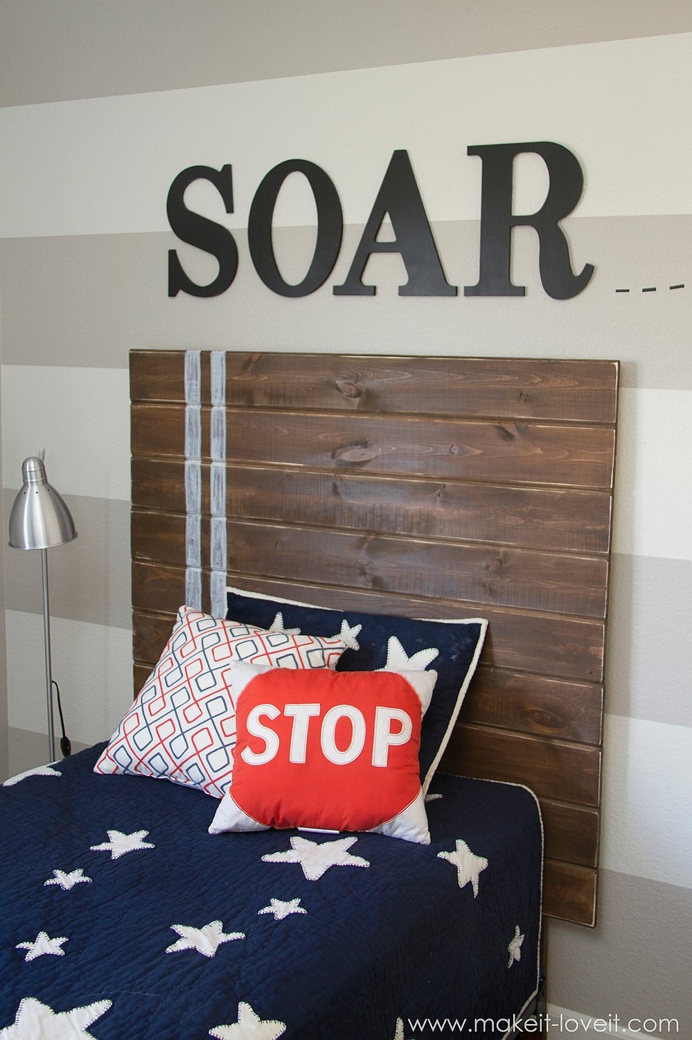 Very Simple Diy Wood Plank Headboard Make It And Love It