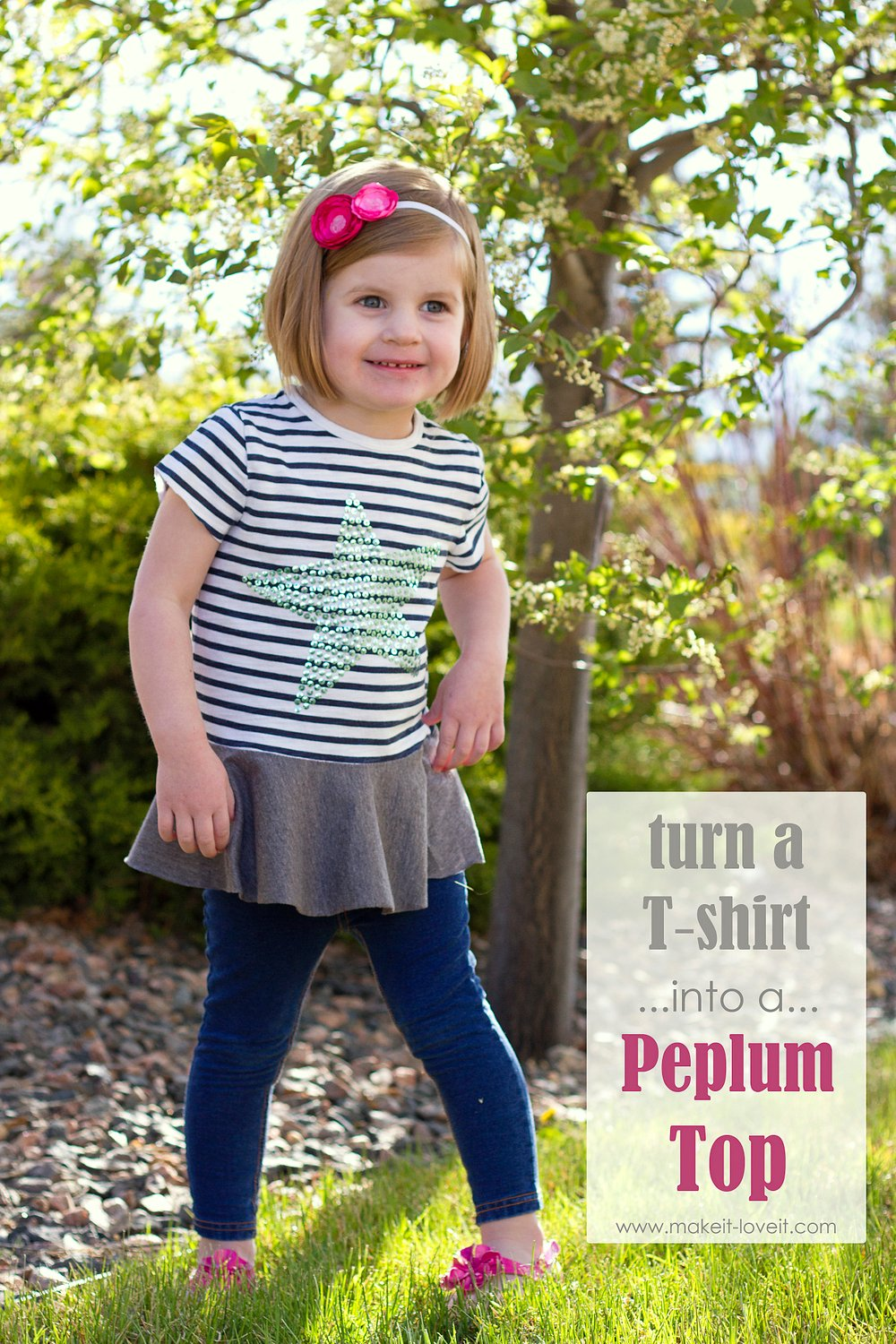 Turn a too-small tshirt…into a peplum top