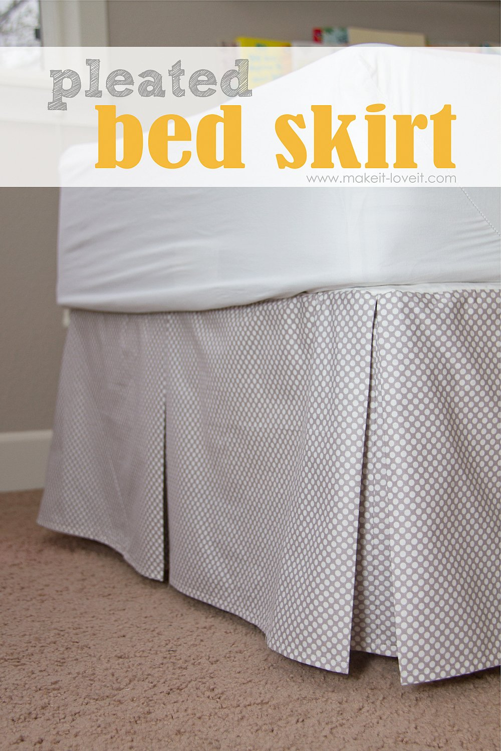 How To Make A Diy Box Pleated Bed Skirt