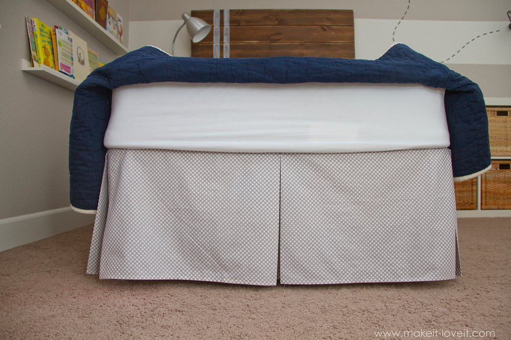 DIY Pleated Bed Skirt --- Make It and Love It