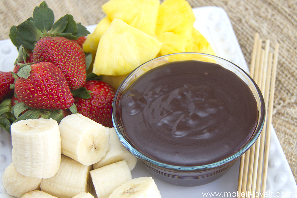 "The Perfect ""non-fussy"" Chocolate Fondue --- Make It and Love It (in the kitchen)"