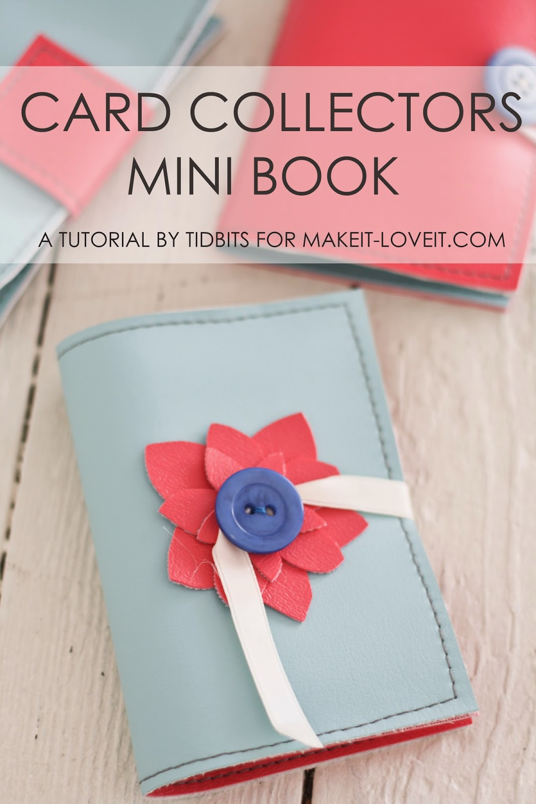 Mini Books for Card Collections (or photos, business cards, etc) --- Make It and Love It