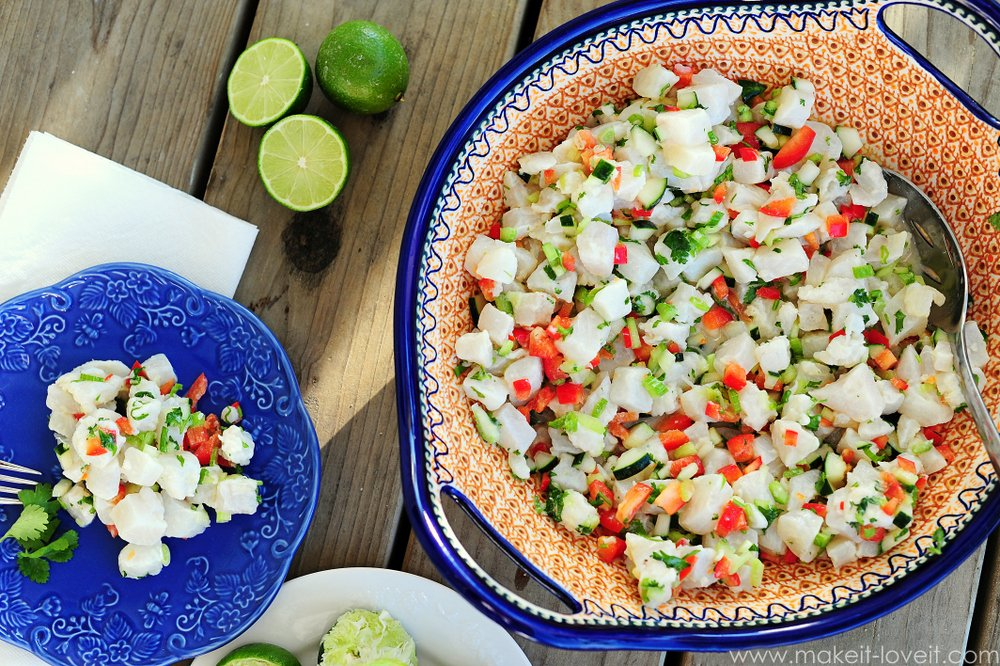 Ceviche Recipe...a light and delicious summertime dish! --- Make It and Love It (in the KITCHEN)