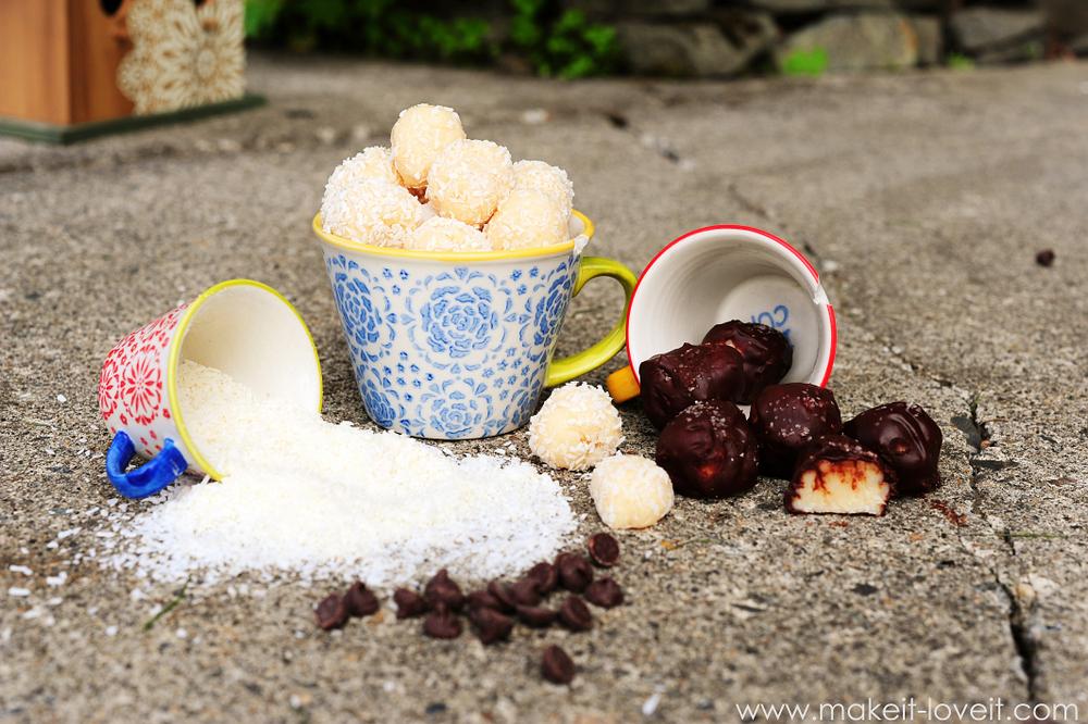 Brazilian Coconut Truffle Balls (aka Beijinhos).  ONLY 3 INGREDIENTS!!! --- Make It and Love It (in the KITCHEN)