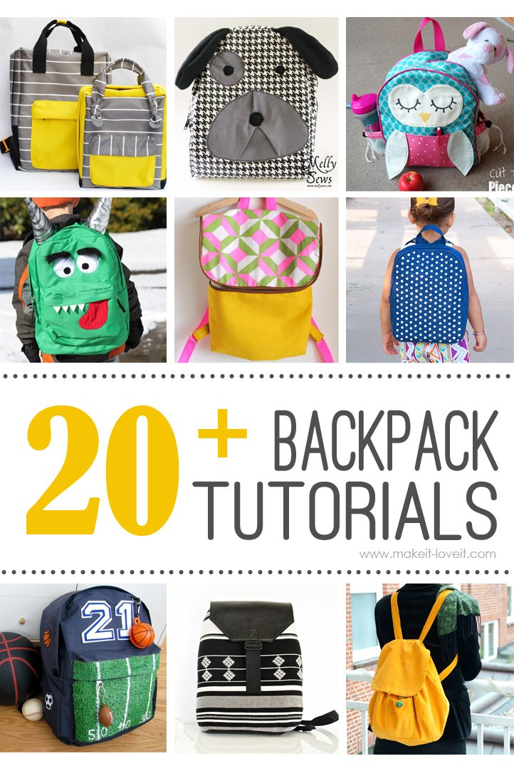 20+ DIY Backpack Tutorials (child and adult styles) – Make It and ... 4a89cba10105b