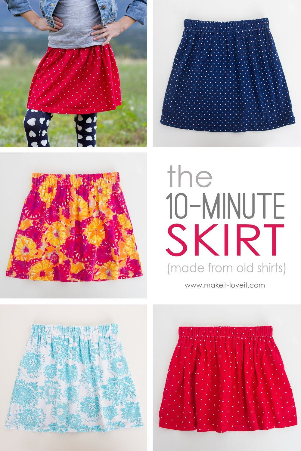 344ef2dbf9 The 10-Minute Skirt (re-purposing old shirts into skirts) – Make It ...