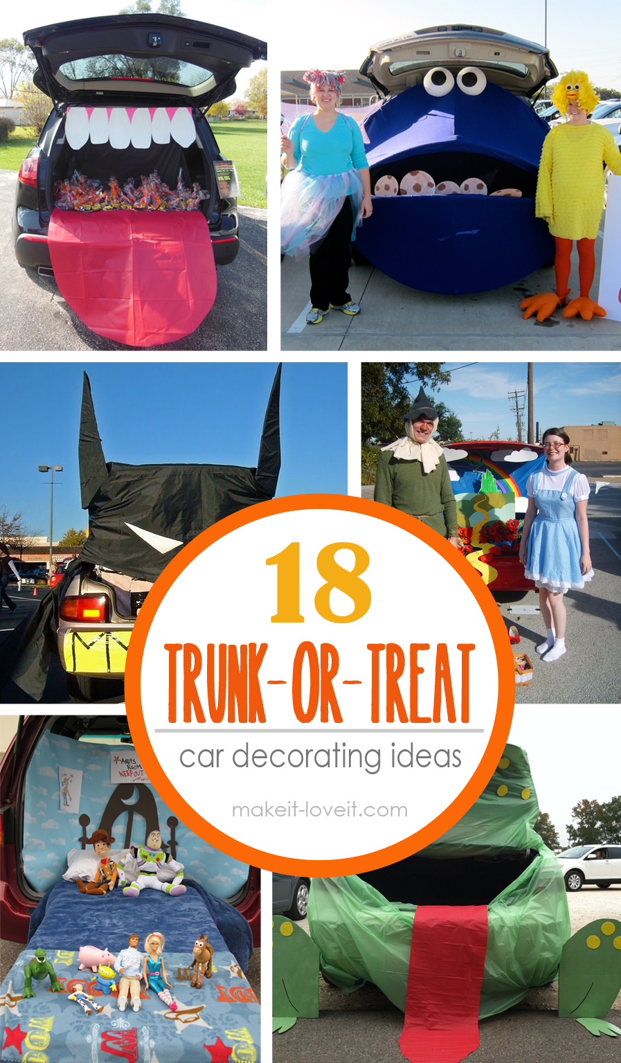18 TRUNK-or-Treat Car Decoration Ideas! --- Make It and & 18 Trunk-or-Treat Car Decorating Ideas | Make It and Love It