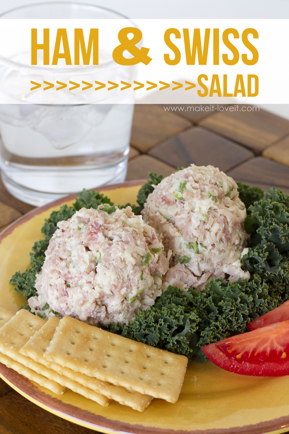 Ham and Swiss Salad…simple, versatile, and delicious!