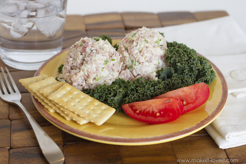 Ham and Swiss Salad...great on a roll, with crackers, on top of lettuce greens, or serve it hot in a Panini. Yum! --- Make It and Love It (in the KITCHEN)