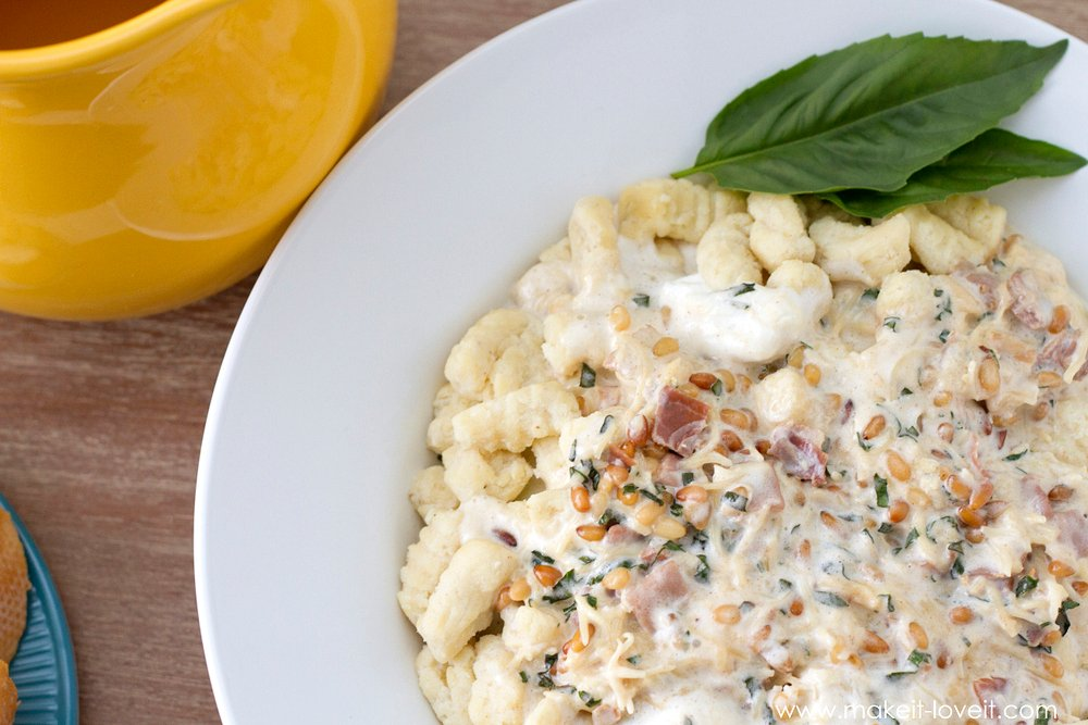 Ricotta Gnocchi (Ñoquis) with a fluffy Prosciutto Cream Sauce --- Make It and Love It (in the KITCHEN)