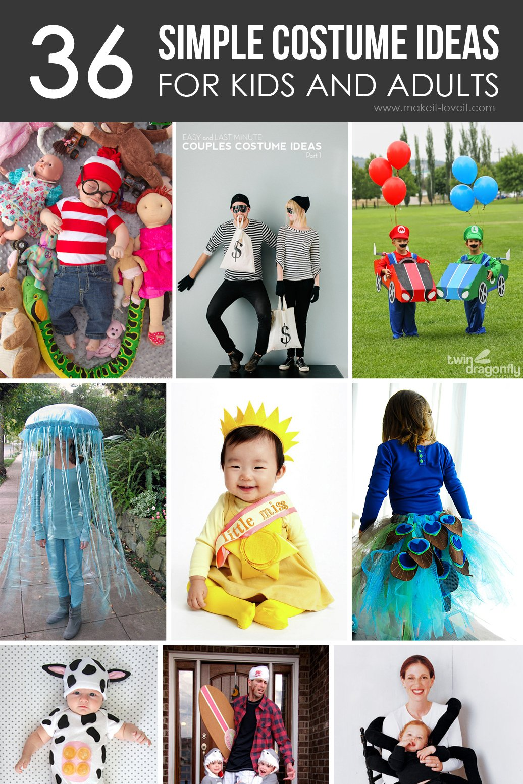 36 simple costume ideas for kids and adults