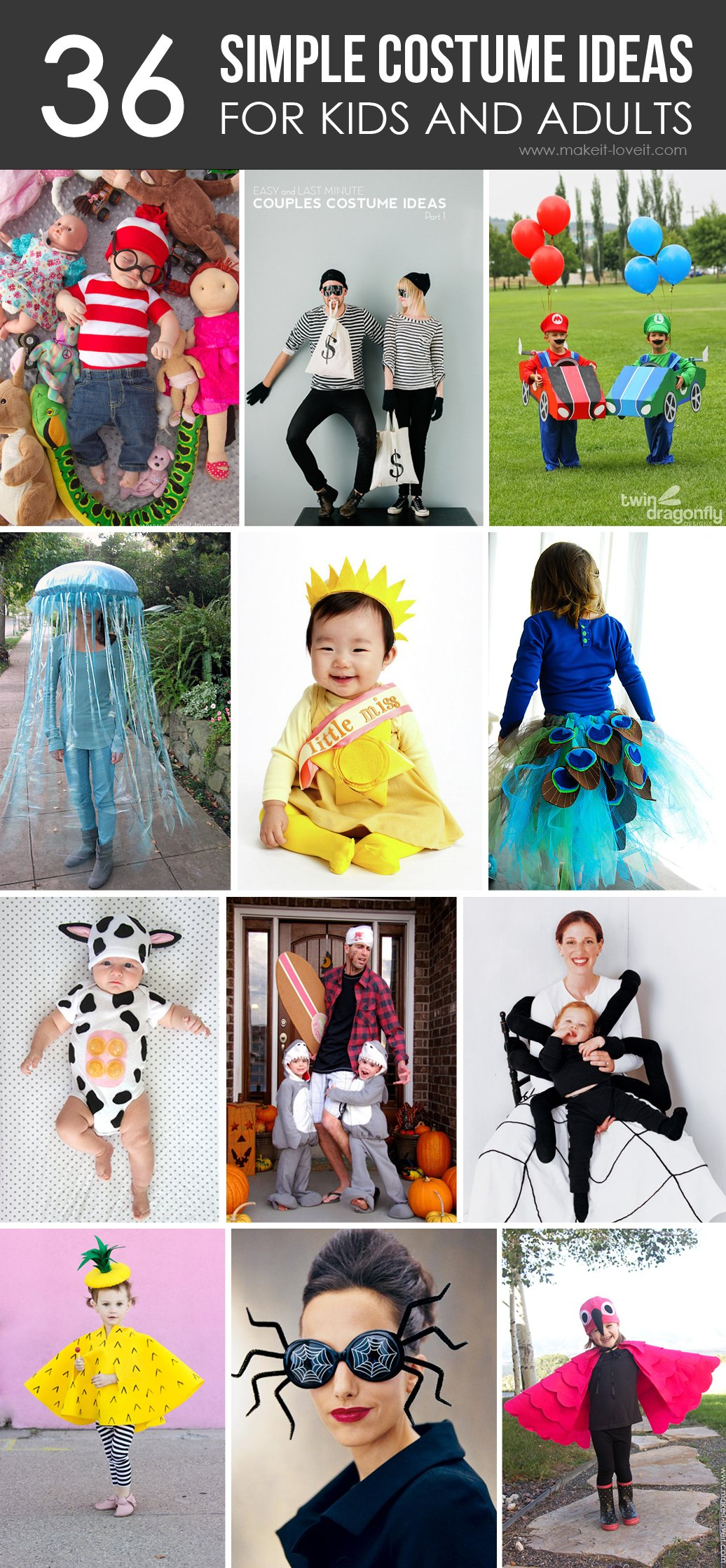 36 simple costume ideas for kids and adults make it and love it