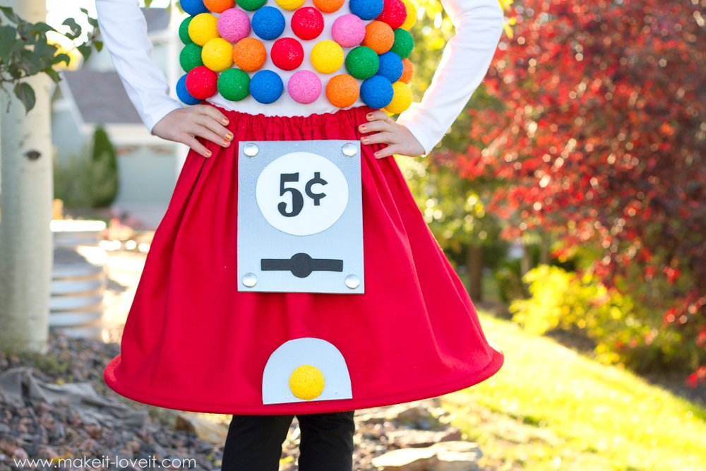 DIY Gumball Machine Costume For Halloween