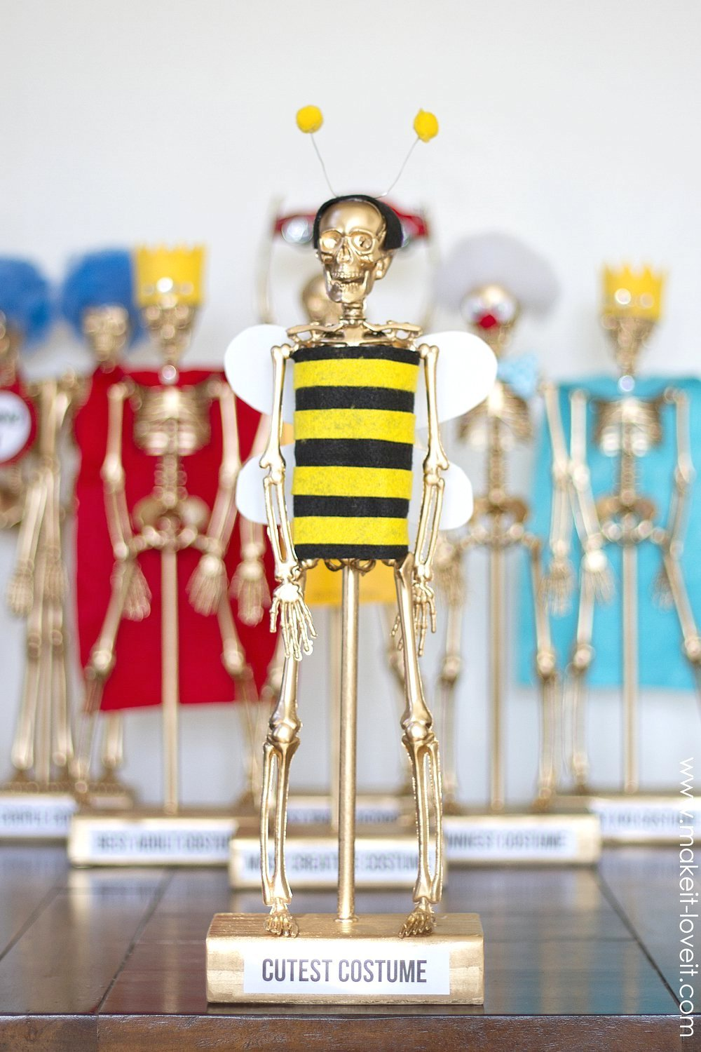 Costume award trophies….for your halloween party!