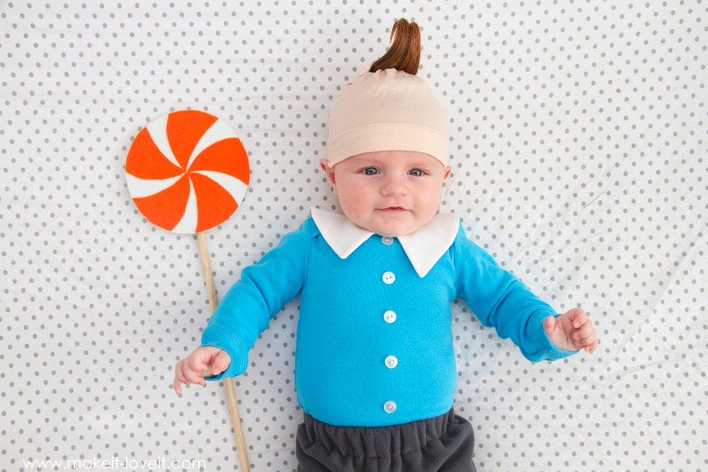 "DIY Lollipop Munchkin Costume (from ""Wizard of Oz"") 