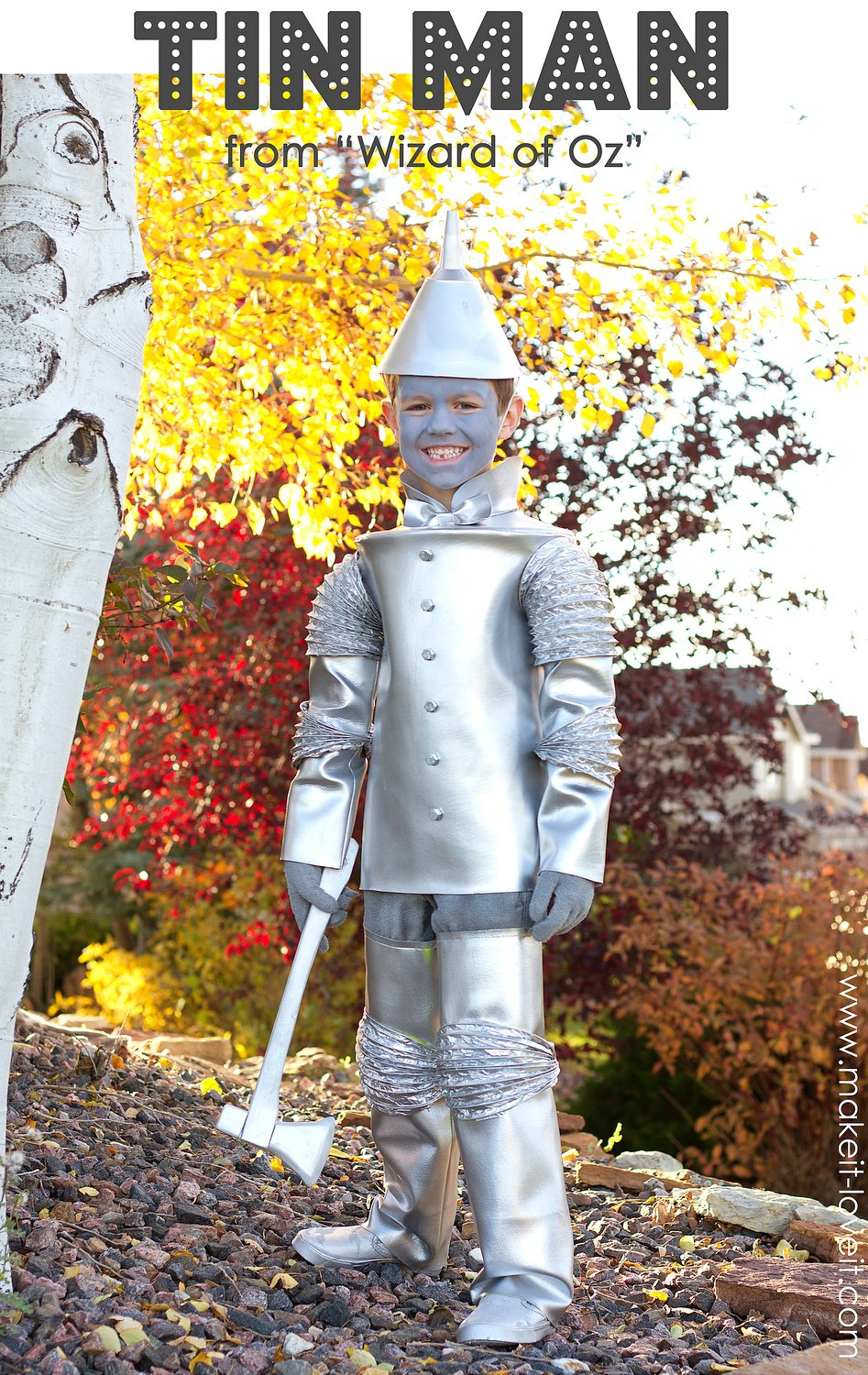 DIY Tin Man Costume (from Wizard of Oz) | via Make It and Love It