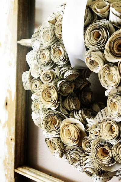 1 book page wreath