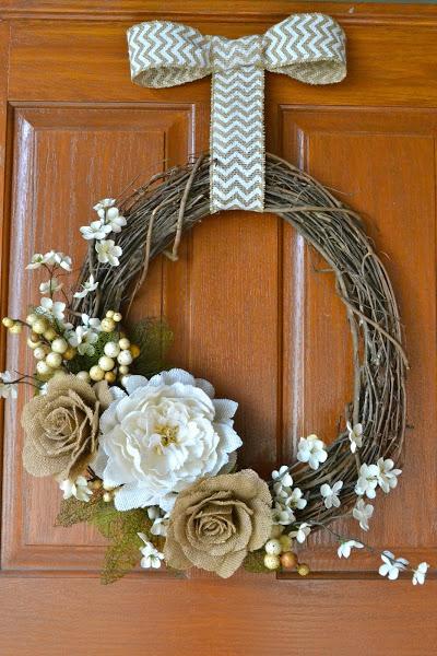 1 floral fall wreath