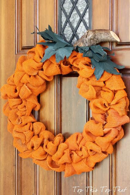 1 orange pumpkin wreath