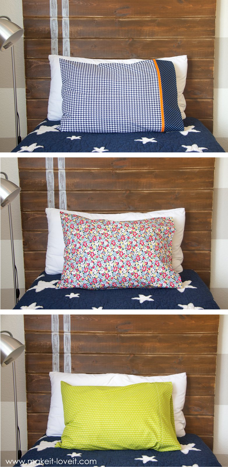 how to make sew 3 unique styles of pillowcases 3 ways. Black Bedroom Furniture Sets. Home Design Ideas