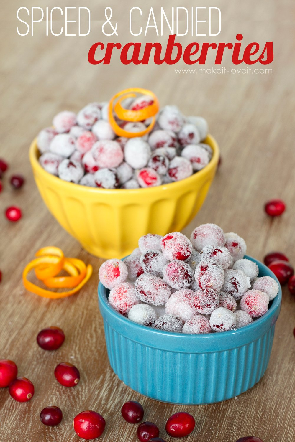 Spiced and candied fresh cranberries 1