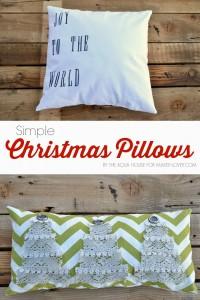 Simple DIY Christmas Pillows | via Make It and Love It