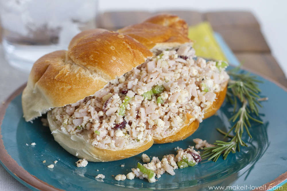 Turkey and Cranberry Salad (for sandwiches, crackers, etc.)...a great way to use up leftover turkey! | via Make It and Love It