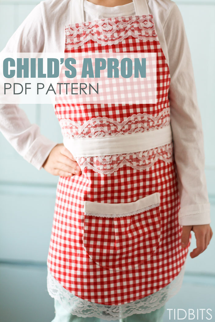 Farmhouse Gingham Apron (a variation of the Child's Apron pattern)
