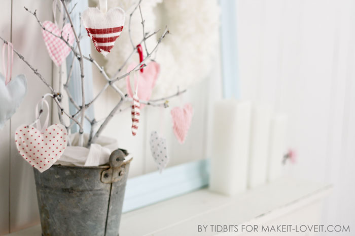 DIY Hanging Heart Softies...simple Valentine Decor! | via Make It and Love It
