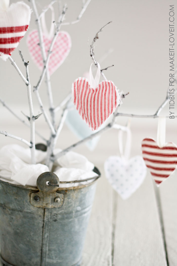 Hanging heart softies — simple valentine decor!