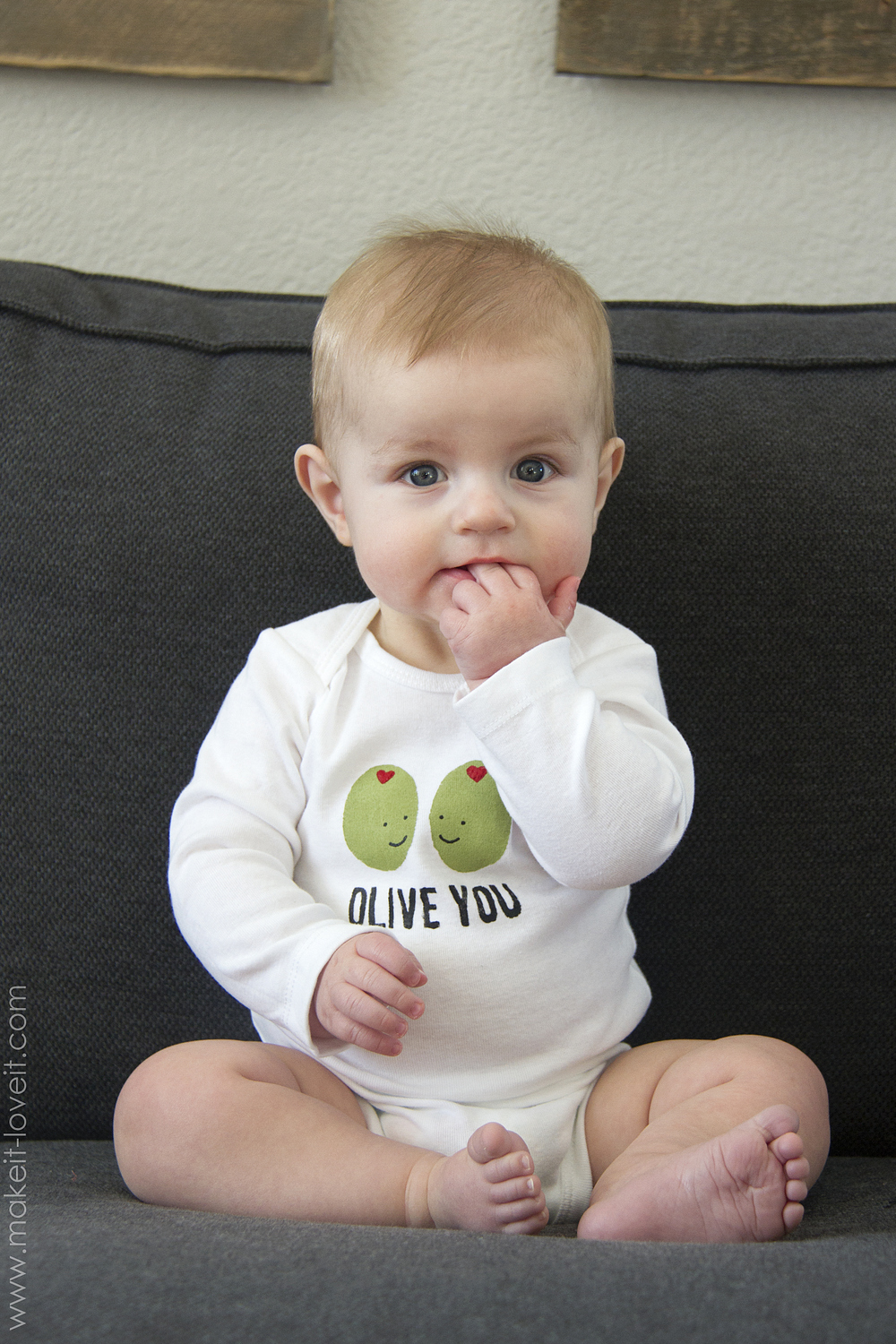 "Diy ""olive you"" stenciled shirt (…for valentine's day!)"