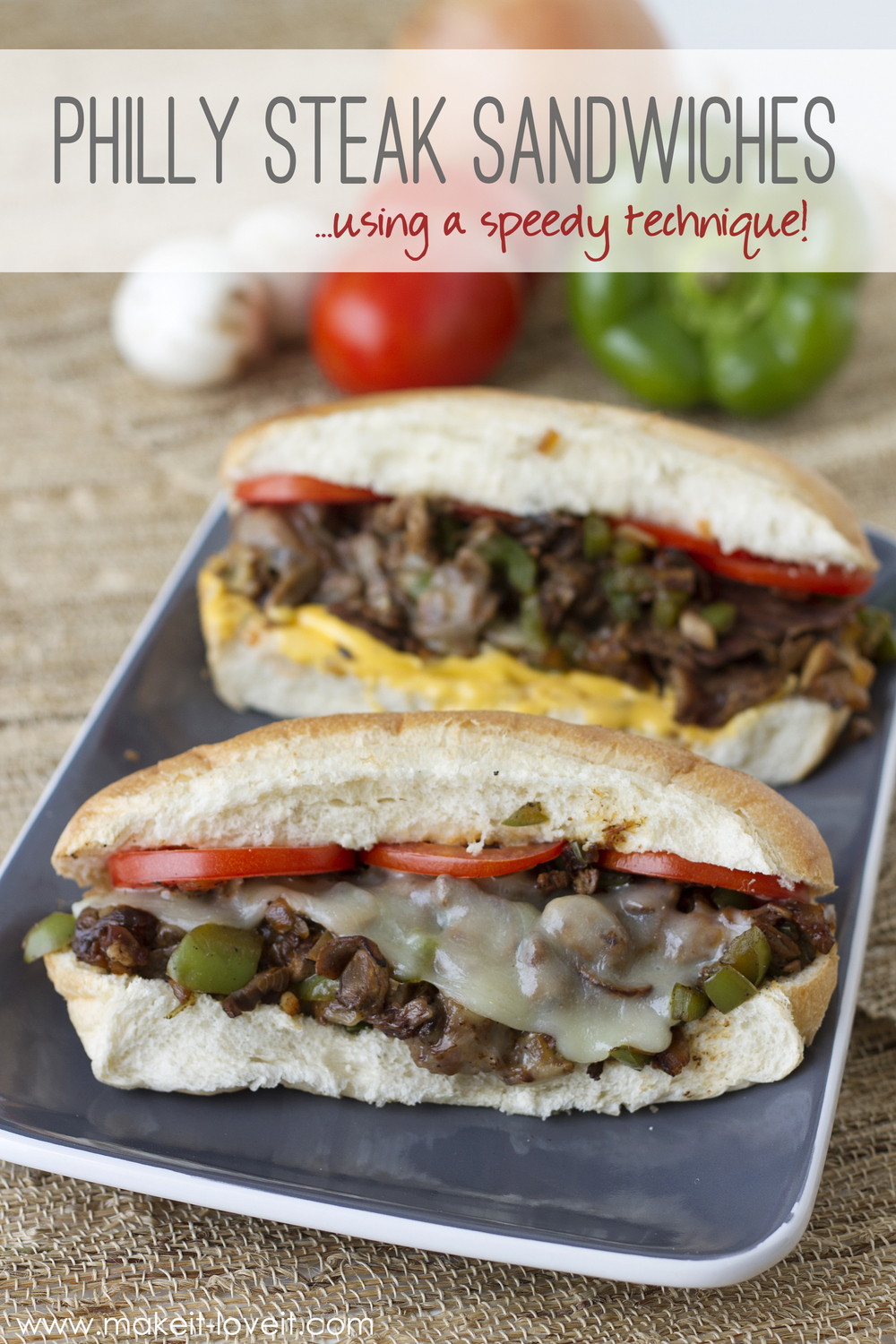 Philly Steak Sandwiches…using a speedy kitchen technique!