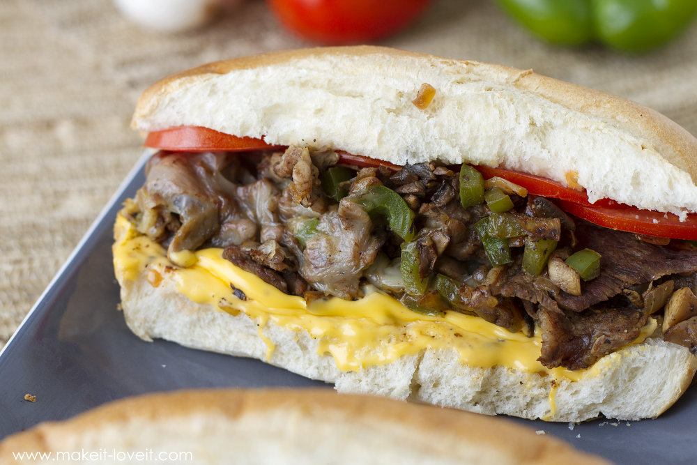 Simple and authentic Philly Steak Sandwiches...using a speedy kitchen technique! | via Make It and Love It -- In the Kitchen